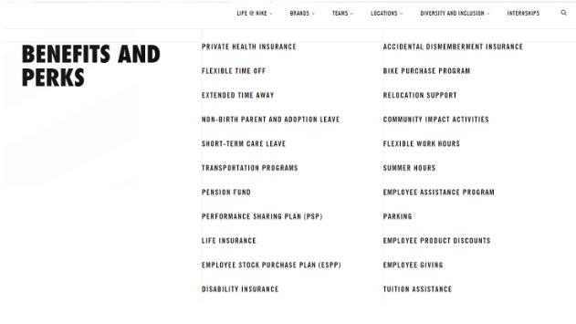 Nike Product benefits