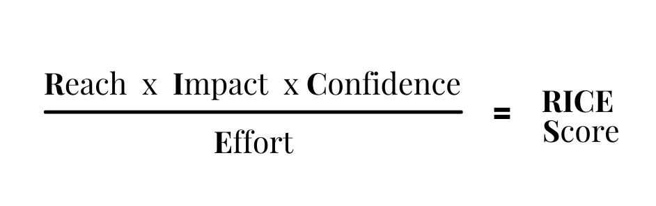 RICE prioritization framework